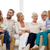 happy family sitting on couch at home stock photo © dolgachov