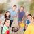 család · vakáció · barbecue · nő · ház · étel - stock fotó © dolgachov