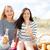 grupy · szczęśliwy · młodych · ludzi · piknik · plaży · przyjemny - zdjęcia stock © dolgachov