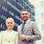smiling businessmen standing over office building stock photo © dolgachov
