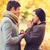 pár · jegygyűrű · ajándék · doboz · kép · nő · kezek - stock fotó © dolgachov