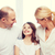 улыбаясь · родителей · девочку · домой · семьи · ребенка - Сток-фото © dolgachov