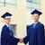 feliz · estudantes · solteiros · saudação · outro · educação - foto stock © dolgachov