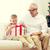 sonriendo · abuelo · nieto · caja · de · regalo · familia · vacaciones - foto stock © dolgachov