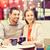 boldog · pár · bevásárlótáskák · iszik · kávé · vásár - stock fotó © dolgachov