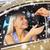 barbu · vendeur · jeune · femme · séance · nouvelle · voiture - photo stock © dolgachov