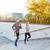 счастливым · пару · работает · наверх · город · лестницы - Сток-фото © dolgachov