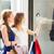 mooie · vrouw · venster · winkelen · vrouwelijke - stockfoto © dolgachov
