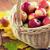 olgun · sonbahar · meyve · ahşap · sepet · tok - stok fotoğraf © dolgachov