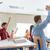 escola · secundária · estudantes · grupo · sessão · juntos · sala · de · aula - foto stock © dolgachov