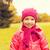 heureux · belle · petite · fille · portrait · extérieur · automne - photo stock © dolgachov