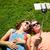 jonge · teen · paar · smartphone · samen - stockfoto © dolgachov