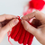 close up of hands knitting with needles and yarn stock photo © dolgachov