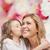 uśmiechnięty · matka · córka · rodziny · dziecko - zdjęcia stock © dolgachov