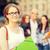 glimlachend · vrouwelijke · student · mappen · zomer · vakantie - stockfoto © dolgachov