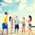 grupo · amigos · playa · verano · vacaciones - foto stock © dolgachov