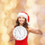 mooie · vrouw · rode · jurk · nacht · lichten · mensen · vakantie - stockfoto © dolgachov