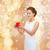 kobieta · zdziwiony · wniosek · pani · kwiat - zdjęcia stock © dolgachov