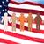 internacional · grupo · de · personas · bandera · de · Estados · Unidos · diversidad · carrera - foto stock © dolgachov