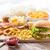 közelkép · gyorsételek · harapnivalók · ital · asztal · egészségtelen · étkezés - stock fotó © dolgachov
