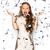 felice · Crazy · eccitato · donna · urlando · punta - foto d'archivio © dolgachov