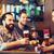 друзей · питьевой · пива · Бар · люди - Сток-фото © dolgachov