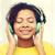 幸せ · アフリカ · 女性 · 音楽を聴く · ヘッドホン · 小さな - ストックフォト © dolgachov