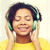 feliz · mulher · bonita · ouvir · música · cantando · sessão - foto stock © dolgachov