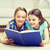 écolières · apprentissage · maison · joli · regarder · caméra - photo stock © dolgachov