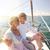 feliz · casal · veleiro · retrato · alegre · bonitinho - foto stock © dolgachov