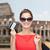買い物客 · 女性 · 袋 · クレジットカード · 笑みを浮かべて - ストックフォト © dolgachov