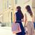 два · счастливым · женщины · кредитные · карты - Сток-фото © dolgachov