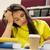 estudante · menina · livros · café · palestra · educação - foto stock © dolgachov