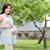 счастливым · беременная · женщина · большой · живота · беременности · материнство - Сток-фото © dolgachov