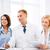 csapat · orvosok · klinika · táblagép · férfi · női - stock fotó © dolgachov