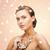 femeie · zambitoare · perla · colier · alb · frumuseţe - imagine de stoc © dolgachov