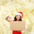 házhozszállítás · lány · csomag · posta · nő · mosoly - stock fotó © dolgachov