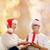 boldog · mosolyog · idős · pár · karácsony · ajándék · ünnepek - stock fotó © dolgachov