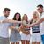 mulheres · homens · bebidas · praia · verão · férias - foto stock © dolgachov