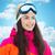 mutlu · kayakçı · gülümseyen · kadın · Kayak - stok fotoğraf © dolgachov