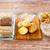 grano · vidrio · bolos · mesa · de · madera · alimentos - foto stock © dolgachov