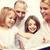 alegre · madre · lectura · ninos · jóvenes · libro - foto stock © dolgachov