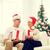 boldog · idős · nő · karácsonyfa · ünnepek · emberek - stock fotó © dolgachov