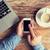 közelkép · laptop · kávéscsésze · iroda · asztal · technológia - stock fotó © dolgachov