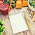 olgun · sebze · ahşap · masa · sağlıklı · beslenme · vejetaryen · yemek - stok fotoğraf © dolgachov