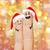 vingers · hoeden · christmas - stockfoto © dolgachov