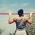 férfi · húzás · fiatal · sportos · sportruha · felfelé - stock fotó © dolgachov