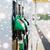 close up of gasoline hose at gas station stock photo © dolgachov