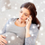 sad pregnant woman calling on smartphone at home stock photo © dolgachov