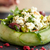 süzme · peynir · salata · çilek · mandalina · portakal · yaprak - stok fotoğraf © dolgachov